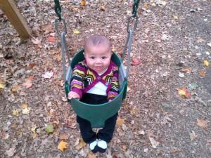 Roya at the playground