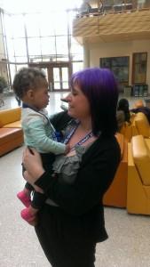 Snuggles with Auntie Megan at #SLS14!